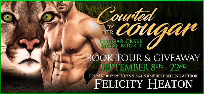 Spotlight/Giveaway:  Courted by her Cougar by Felicity Heaton